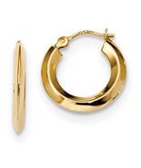 14K Yellow Gold Polished Knife Edge Hoops (Length=15.2) (Width=15.2) [Ye... - $61.31
