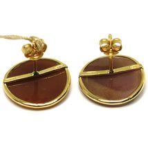Ohrringe aus Gold Gelb 18K 750, Kamee Kamee Muschel, Paar Elfen, Elfe image 3