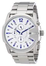 Diesel DZ4181 Master Chief Silver Chronograph Mens Watch - $184.85 CAD
