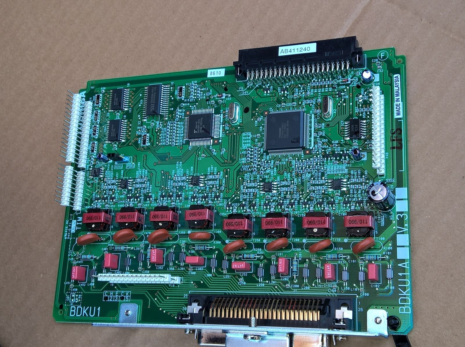 Toshiba BDKU1A V.3  8-port Digital Line Card Refurbished