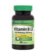 Vitamin B12 High Potency Dietary Supplement 50 mcg Tablet 30 Tablets Lot... - $6.88