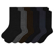 Pack of 12 Men's Premium Cotton Fashion Casual Mid Calf Patterned Dress Socks image 3