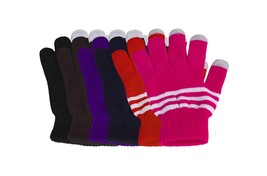 Pack of 6 Texting Gloves Women - Assorted Touch Screen Gloves Women Wome... - $251,14 MXN