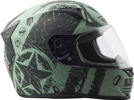 L Fly Racing Revolt Liberator Motorcycle Helmet Matte Black/Green DOT & Snell image 4