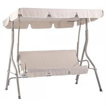 Beige Canopy Swing Glider Hammock Chair Patio Backyard Porch Furniture S... - $77.27