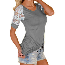 A women summer lace blouse blusas 2018 new sexy o neck short sleeve crochet casual slim thumb200