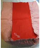 Vintage Tammy Doll Red Bed Spread w/ Tammy name Red & White Stripes TLC ... - $12.86