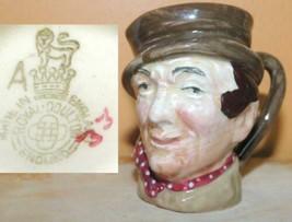 """Royal Doulton Mug 2.25"""" Sam Weller A mark c1940? Toby Jug Character Warr... - $31.49"""