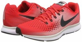Men's Nike Zoom Pegasus 34 Running Shoes, 880555 602 Multi Sizes Red/Gre... - $109.95