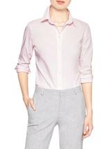 4496-2 Banana Republic Womens Super-Stretch Poplin Tailored Shirt (Pink,... - $46.27