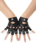 CLASSIC FINGERLESS LEATHER DRIVING GLOVES LES DEBUTANTES - $21.75