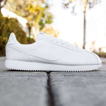 NIKE CORTEZ BASIC LEATHER WHITE WOLF/METALLIC SILVER MEN'S SNEAKERS - $64.95