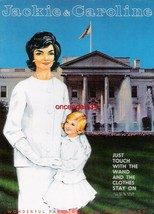 VINTAGE UNCUT 1960's JACKIE & CAROLINE (KENNEDY) PAPER DOLLS~#1 REPRODUC... - $18.99