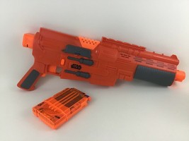 Nerf Star Wars Jyn Erso Glowstrike Blaster Deluxe Orange Motorized Darts Hasbro - $26.68
