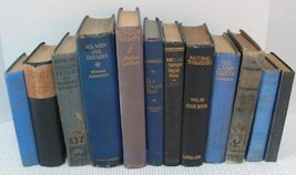 Antique Vintage 12 Book Lot OLD RARE BOOKS Library Shelf Decor Blues 189... - $44.61