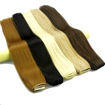 Clip In Hair Extensions 10 Inches With 5 Clips Long Straight Women Hair Black - $8.99+