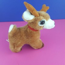 "Russ Plush Starlight Reindeer Vintage Stuffed Animal 8"" Long Eyelashes #A29 - $13.85"