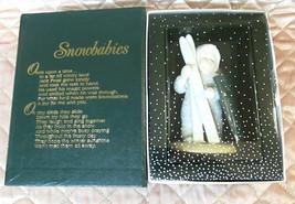 Dept 56 SNOWBABIES Let's Go Skiing Ornament Bisque Porcelain Winter Tales  - $16.99