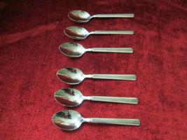 Pfaltzgraff Stainless Mackenzie / Brighton set of 6 Teaspoons  - $39.55