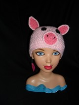 Handmade Crochet Pig Hat - $9.00+
