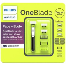 Philips Norelco OneBlade Face + Body Electric Trimmer & Shaver Model # Q... - $62.69