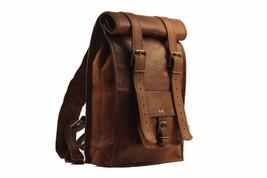 Leather Messenger Shoulder Bag Backpack School Satchel Bag Men Women - $76.31 CAD