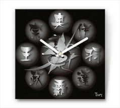 Sengoku Design Fabric Wall clock Interior Date Masamune - €92,42 EUR