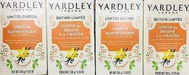 4Pk Yardley London Vanilla Buttercream Moisturizing Soap ~FAST FREE SHIPPING ! ~ - $14.73