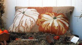POTTERY BARN PUMPKIN EMBROIDERED LUMBAR PILLOW COVER -NWT- A SEASONAL SE... - $79.95
