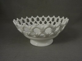 Westmorland Doric Lace   Milk Glass Bowl  Pedestal - $50.00