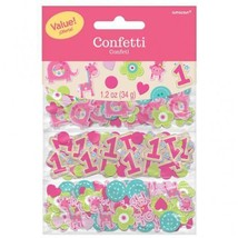 Safari Jungle Baby 1st Birthday Animal Confetti Bag Fillers Decor Party ... - $4.99