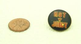 Vintage Late 1970's Early 1980's Hot 'N' Juicy Enamel Scatter Hat Lapel Pin - $7.92