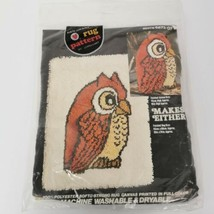 Hootie the Owl Red Heart Rug Canvas Coats & Clark 18 x 24 Sealed Vintage... - $24.74