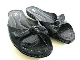 Nike Lab G Series Womens Size 9.5 B Black Slides Walking Open Toe Sandal... - $28.04