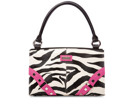 MICHE* Handbag ZOE IN PINK Zebra Faux Leather SHELL ONLY Purse CLASSIC U... - $10.99