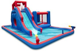 Deluxe Inflatable Water Slide Park  Heavy-Duty Nylon Bounce House for Outdoor Fu - $1,501.50