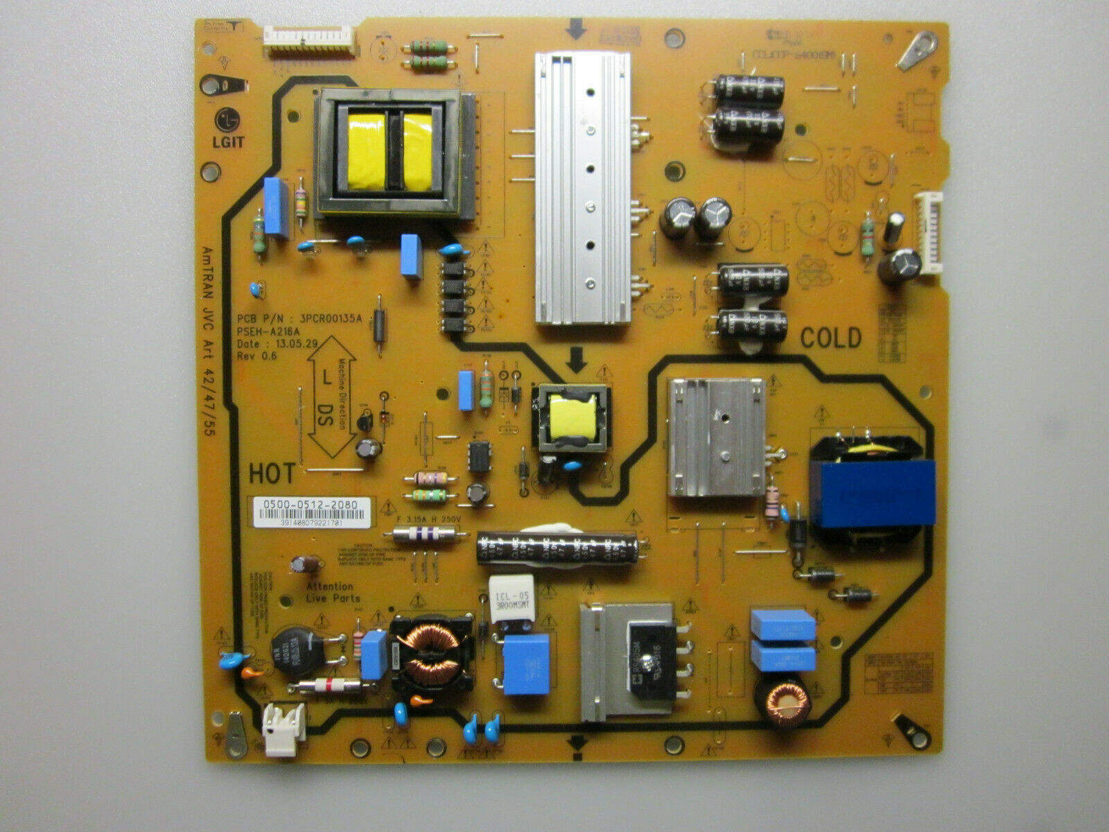 "Primary image for JVC 47"" SL47B-C Power Supply Board 0500-0512-2080"