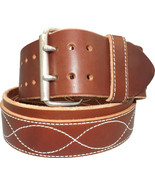 """CONSTRUCTION TOOL BELT Heavy Duty 3"""" Thick Double Prong Work Belts USA H... - $79.97"""