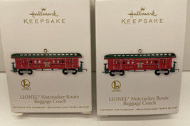 Hallmark Keepsake Lionel Nutcracker Route Baggage Coach Lot Of 2 NIB - $19.75