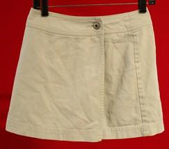 "Gap Womens Denim Beige Wrap Around Skirt Size 4, Measures 25 x 14"" - $12.86"