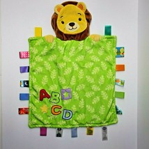 Taggies Peek A Boo Lion ABCD Baby Blanket Green Leaves Security Lovey  - $29.02