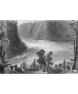 CANADA Niagara River Whirlpool - 175 Years Old Print by BARTLETT - $13.50