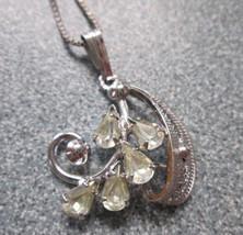 Sorrento Sterling Necklace w/ Chain Rhinestone - $19.79