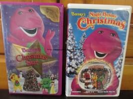Barney's Night Before Christmas & Christmas Star VHS Lot - Holiday Songs - $10.29
