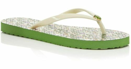 NEW TORY BURCH Logo Flip Flop in Ivory White Pansy (Size 5 M) - MSRP $58.00! - $39.95