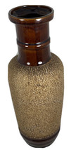 Royal Haeger Stoneware Vase Brown Texture USA Pottery Mid Century 12 1/2 Inches  - $15.75