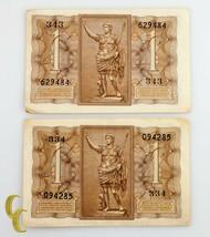 1935-1939 Italie Lire Biglietto Di Stato Lot 8 Pièces 1, 2, 10 (F) Fin État - $39.34