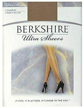 Berkshire BEIGE  Non-Control Top Pantyhose, Sandalfoot, 2-Pack, Size 3 - $6.88