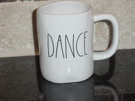 Rae Dunn DANCE Mug, Ivory with Black Lettering - $11.00