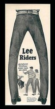 LEE Riders Authentic Western Cowboy Jeans 1952 AD - $9.99
